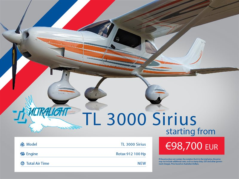 2020 TL Ultralight Sirius 3000 Aircraft