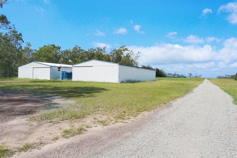 Hangars (24x15m& 24x12m), plus two water tanks