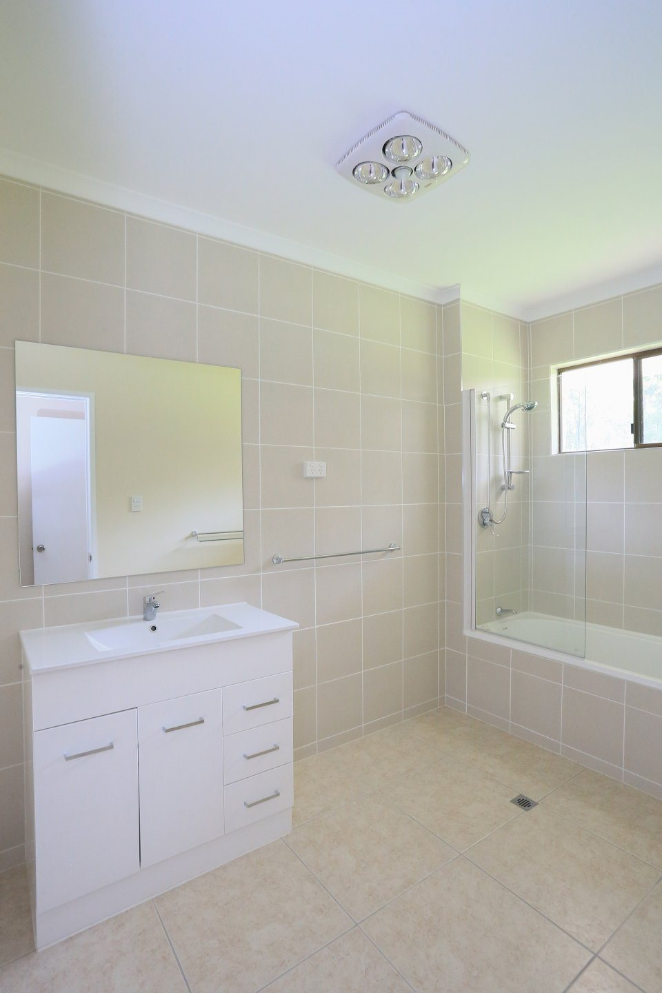 New bathroom with tiles to ceiling