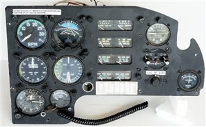 Avionics  - Piper PA23-250 Aztec Co-Pilot Instrument Panel