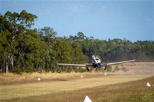 1975 Mooney Mark 20F Executive on takeoff