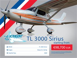 2020 TL Ultralight Sirius 3000 Aircraft