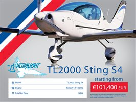 2020 TL Ultralight Sting S4 Aircraft