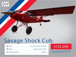 2017 Zlin Savage Shock Cub Aircraft
