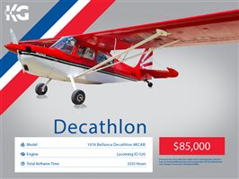 1976 American Champion 8-KCAB Decathlon Aircraft