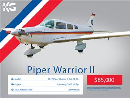 1977 Piper Warrior II Aircraft