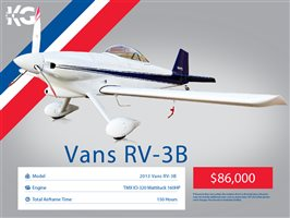 2013 Vans RV3 B Aircraft