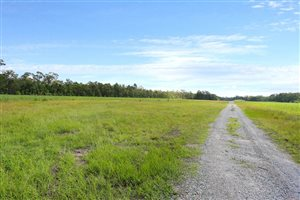 Gravel driveway and 800m grass airstrip