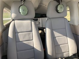 High back leather seats
