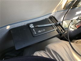 Captain iPad back up device - magnetic clipboard - armrest