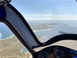 Flying over Rottnest Island