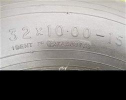 Wheels and Fairings - Dunlap tyres 15x10x32