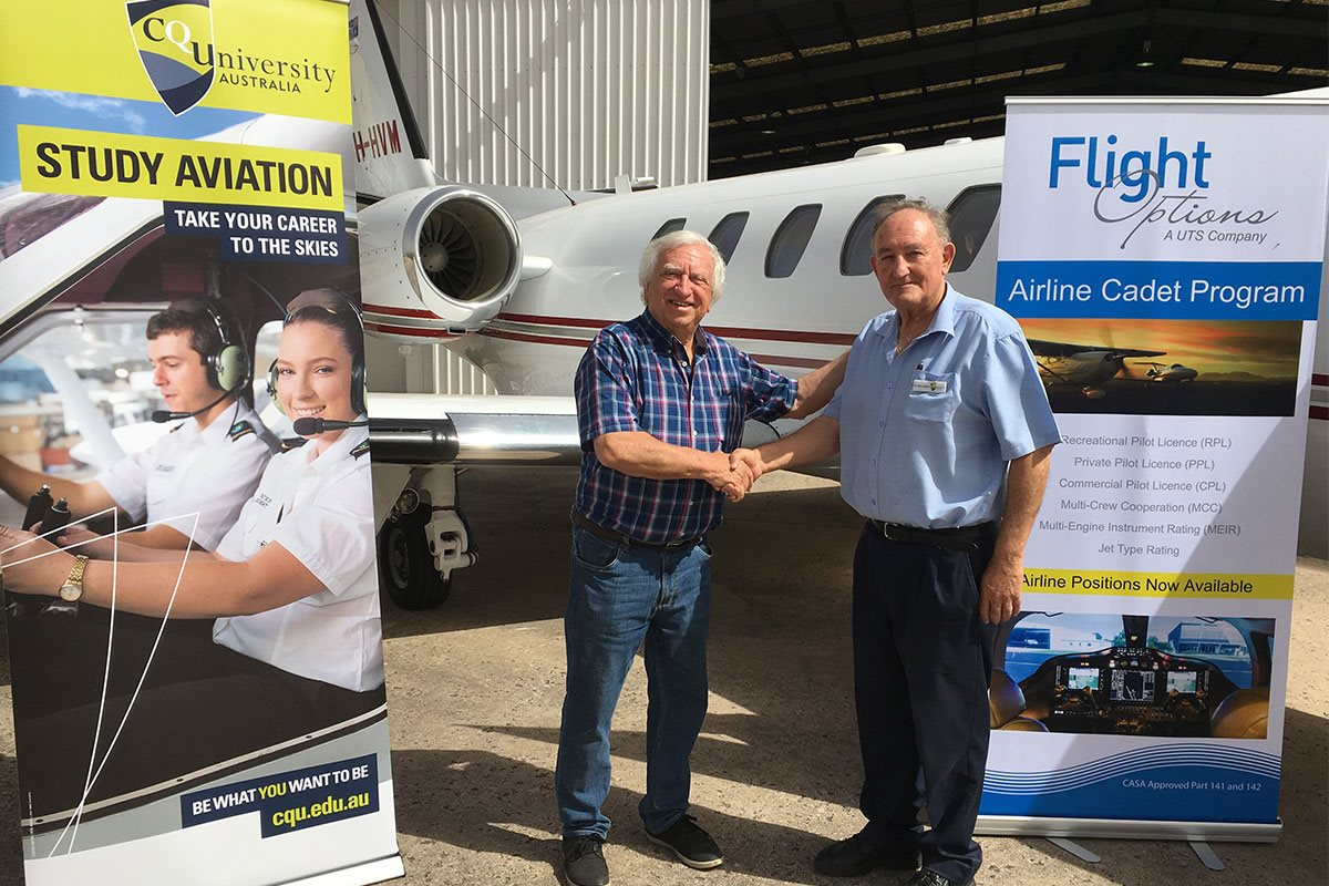 The sky is the limit with CQUni and Flight Options